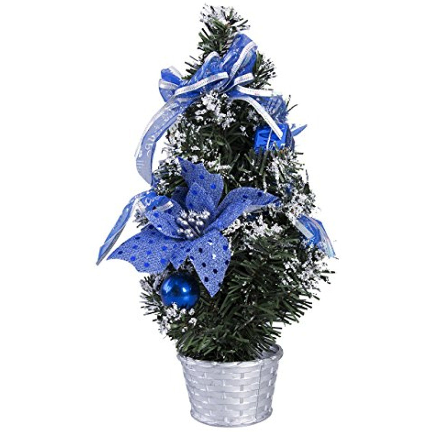 Artificial Christmas Tree with Christmas Decoration Balls Bows and