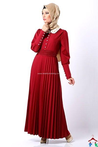 8d6aadc1b9593 Avenna Hazır Yaka Pileli Elbise | Armine | Setrms | Kayra | Aker | Alvina