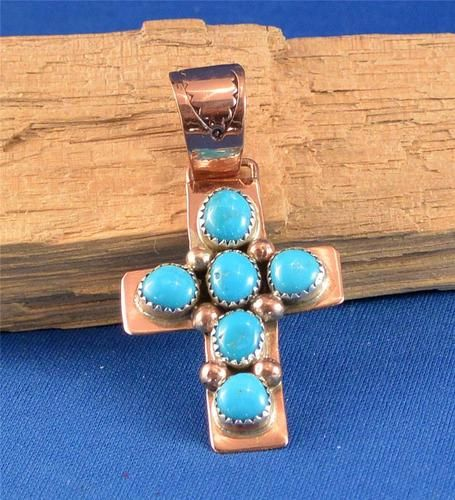 Native American Navajo Indian Jewelry Copper Turquoise Cross Pendant #1 | eBay. $35.99 with Free US Shipping.