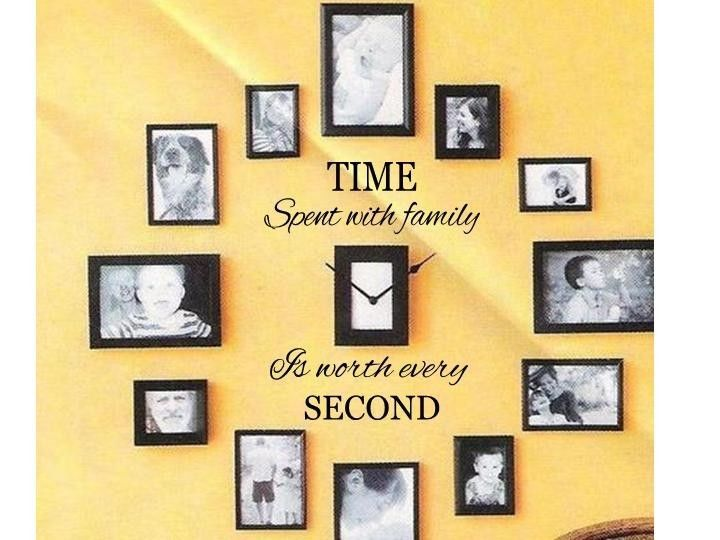 TIME SPENT WITH FAMILY Wall Art Decal Quote Words Lettering Decor ...