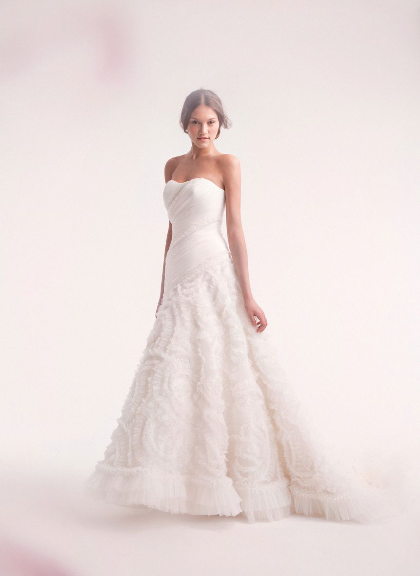 Dropped waist wedding dress  Bridal Gowns Alita Graham ALine Wedding Dress with Strapless