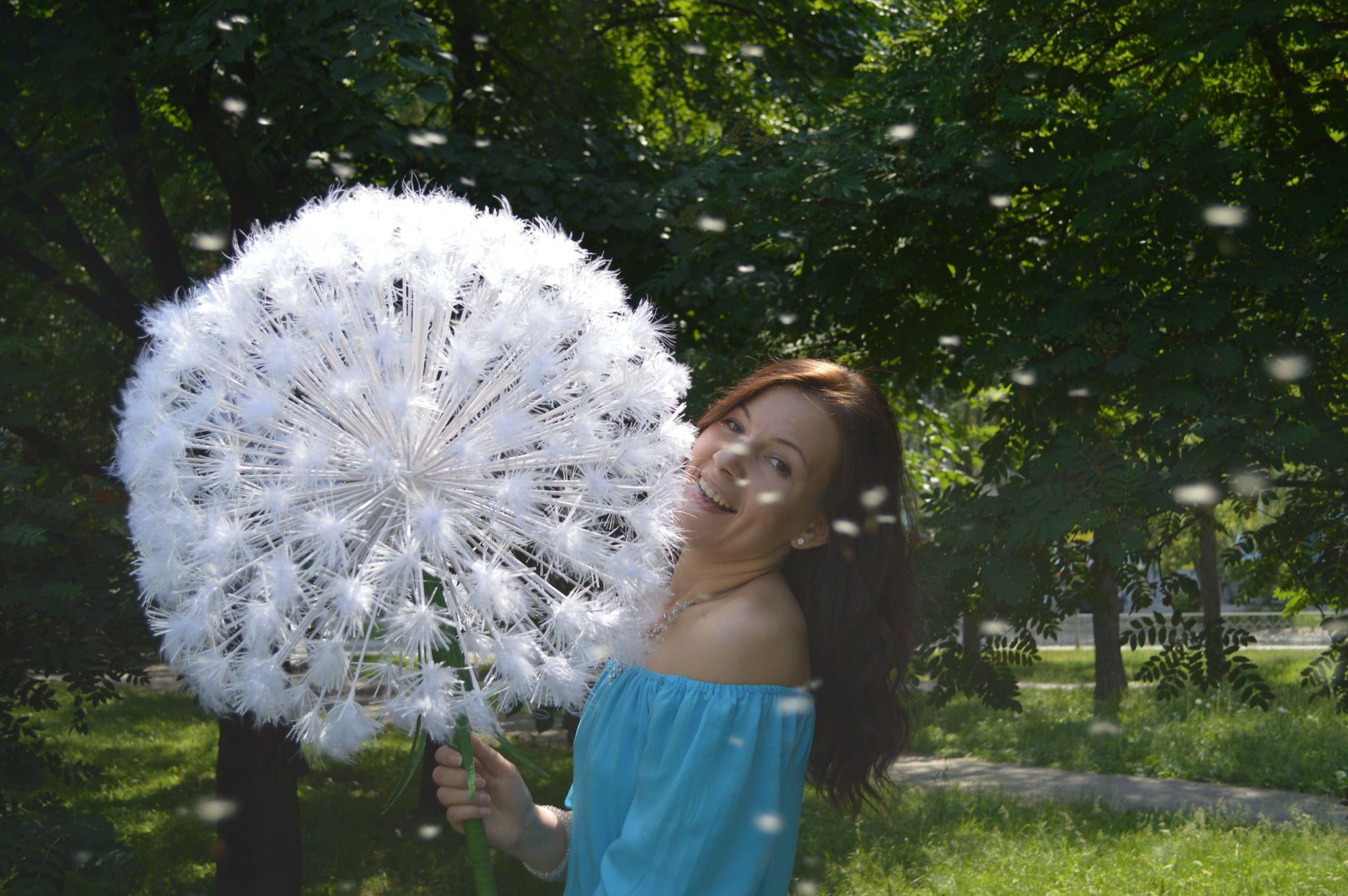 Пушистый одуванчик, большой одуванчик, цветы, большие цветы, цветы из бумаги, цветы для фотосессии, цветы в интерьере, Цветочный декор.