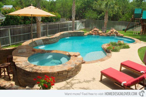 Ooh Ahhh blue water umbrella chair flowers rocks yes ) Dream Pool