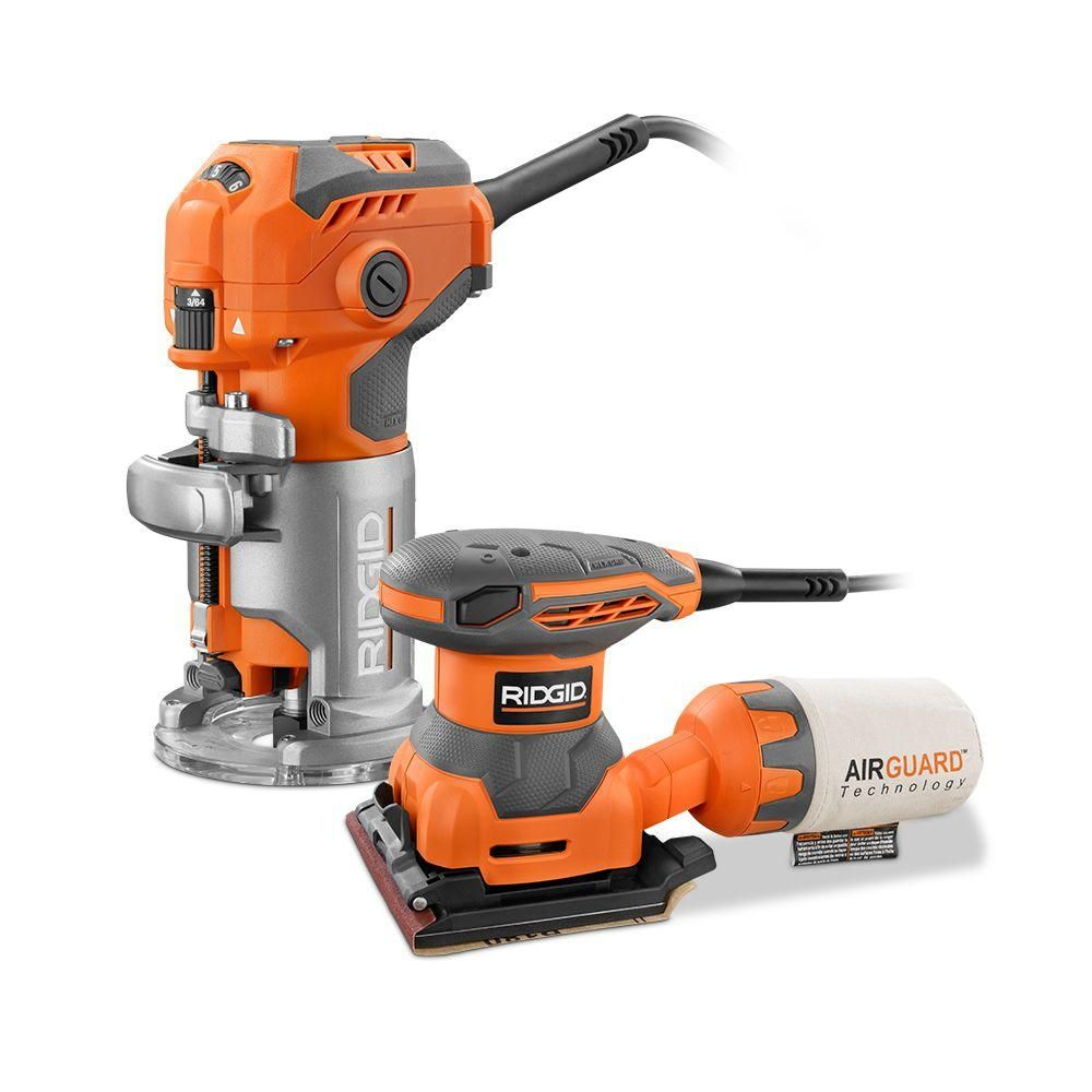 RIDGID 5.5-Amp Trim Router with Free 1/4 in. Sheet Sander-R24011 at ...