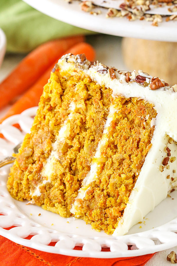 This Easy Carrot Cake Has The Best Homemade Cream Cheese Frosting Recipe Best Carrot Cake Carrot Cake Recipe Easy Cake Recipes