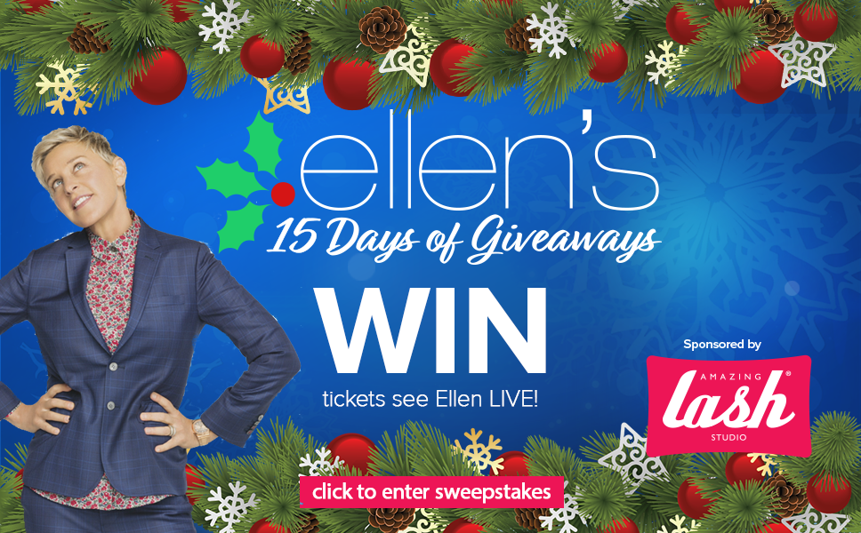 Ellen 12 Days Of Christmas Tickets.Enter To Win 2 Tickets To See A Live 15 Days Of Giveaways