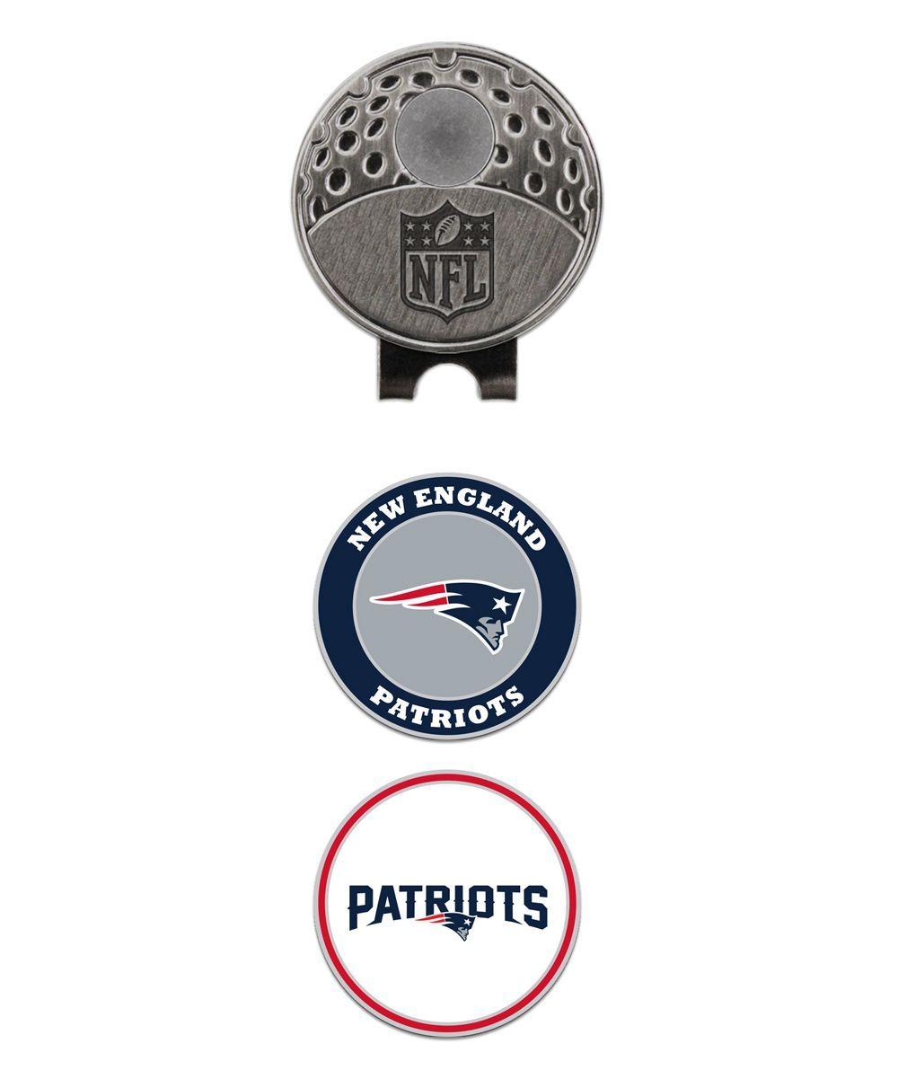 9b8a42c0ad0 New England Patriots Golf Visor Clip   Magnetic Ball Marker Set ...