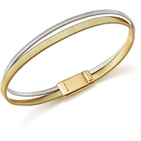 Marco Bicego Masai Two-Row 18K Yellow Gold Bracelet with Diamonds WYXkJgk7SL
