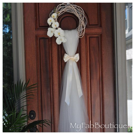 Wedding Doors, Wedding Wreaths, Wedding Flowers, Rustic Wreaths, Front Door  Wreaths, Front Doors, Shower Doors, Artificial Flowers, Twists
