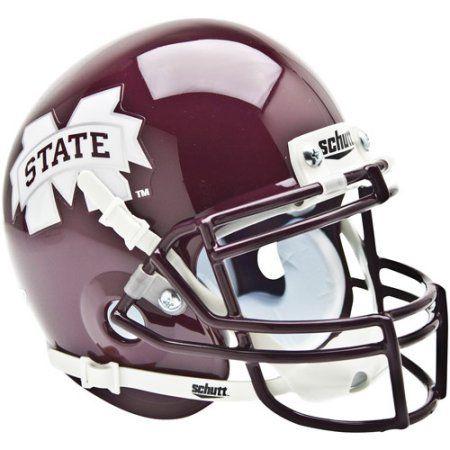 Shutt Sports Ncaa Mini Helmet, Mississippi State Bulldogs, Red