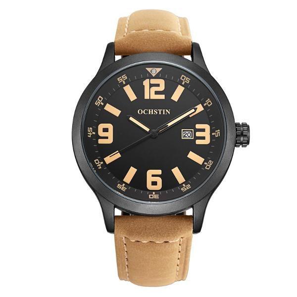 Sale 13% (15.99$) - OCHSTIN GQ054 Fashion Men Quartz Watch Casual Large Numerals Display Wrist Watch