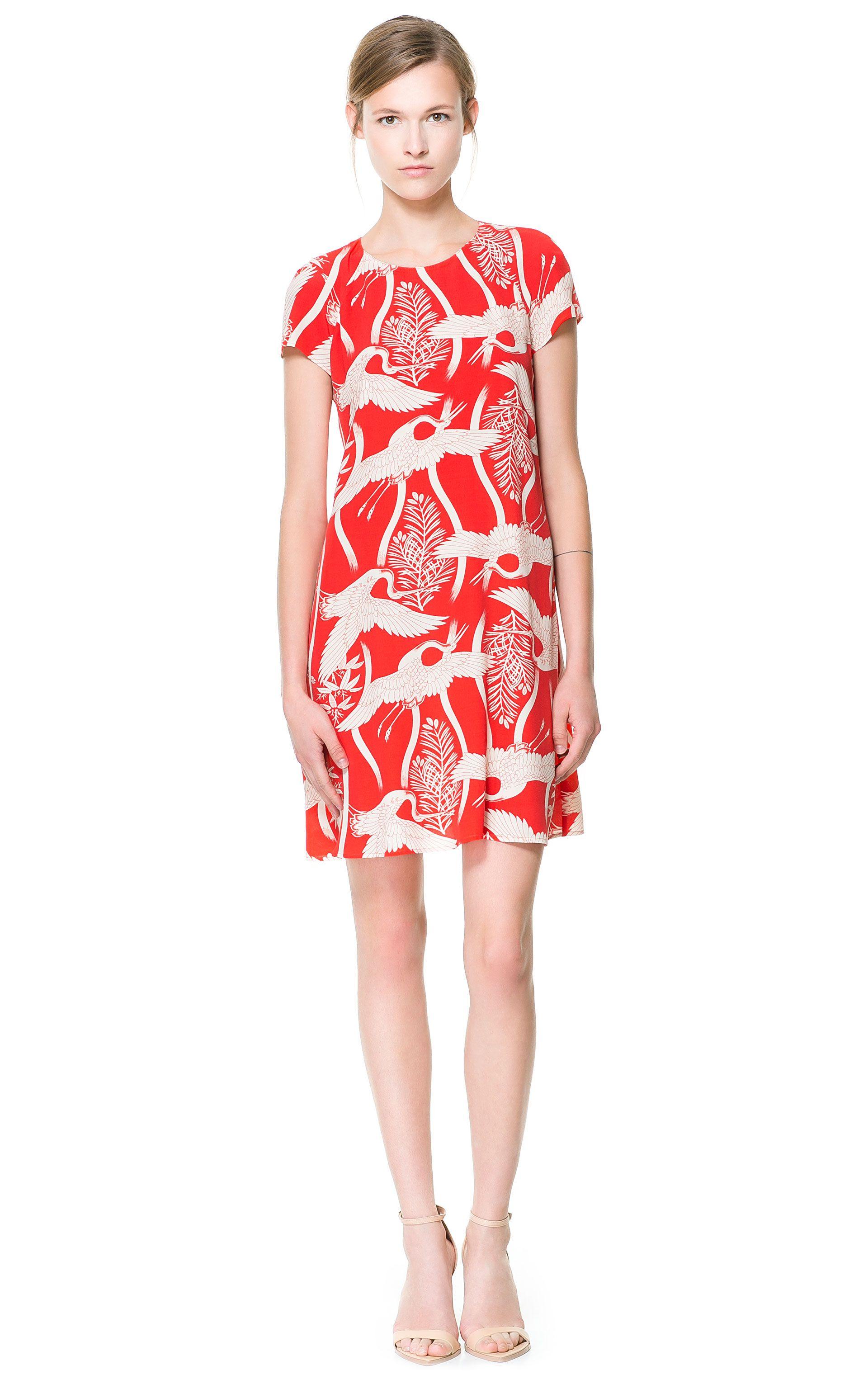 BIRD PRINT DRESS - Zara | What I would wear.... | Pinterest | Ropa