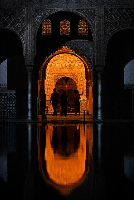 The light in the doorframe makes it appear otherworldly, Alhambra