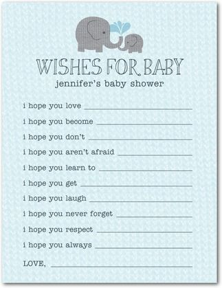 Elephant Applique Slate - Baby Shower Games in Slate Allie - baby shower agenda template