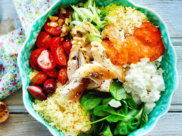 Power-Bowl mit Couscous #easydinnerrecipes