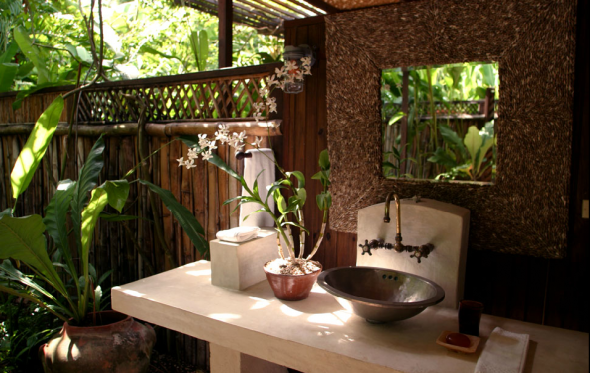 an outdoor bathroom golden eye jamaica - Bathroom Designs Jamaica