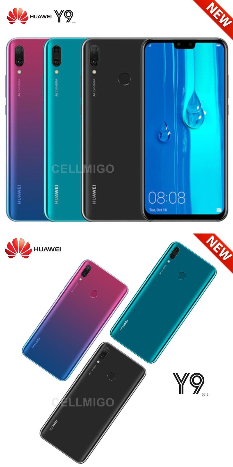 ecfd46e8590 Cell Phones and Smartphones 9355: Huawei Y9 2019 (64Gb) 6.5 Display, 4  Camera S, 4G Lte Dual Sim Unlocked Jkm-Lx3 -> BUY IT NOW ONLY: $249.99 on  #eBay ...