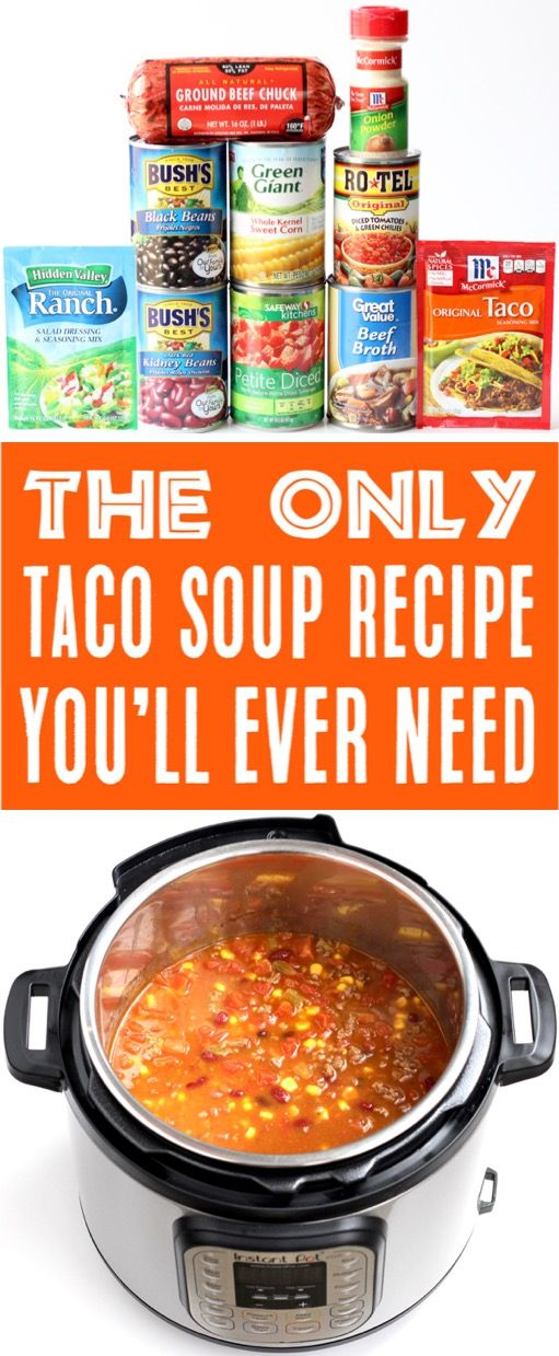 Instant Pot Taco Soup! {Easy 6 Can Southwest Soup} - The Frugal Girls #instantpotrecipeseasy