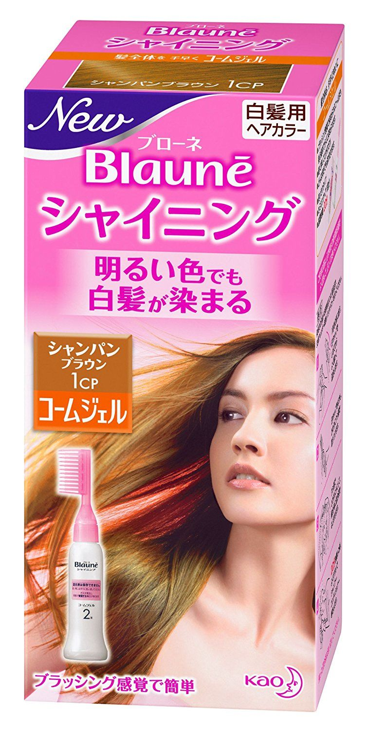 Kao Blaune Shining Hair Color Comb Gel 1 Champagne Brown
