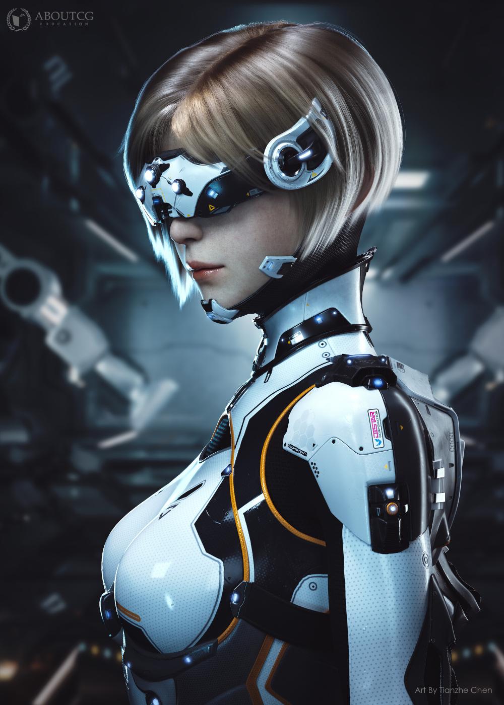 Cyberpunk self design work(赛博朋克个人设计作品), C. Skydog