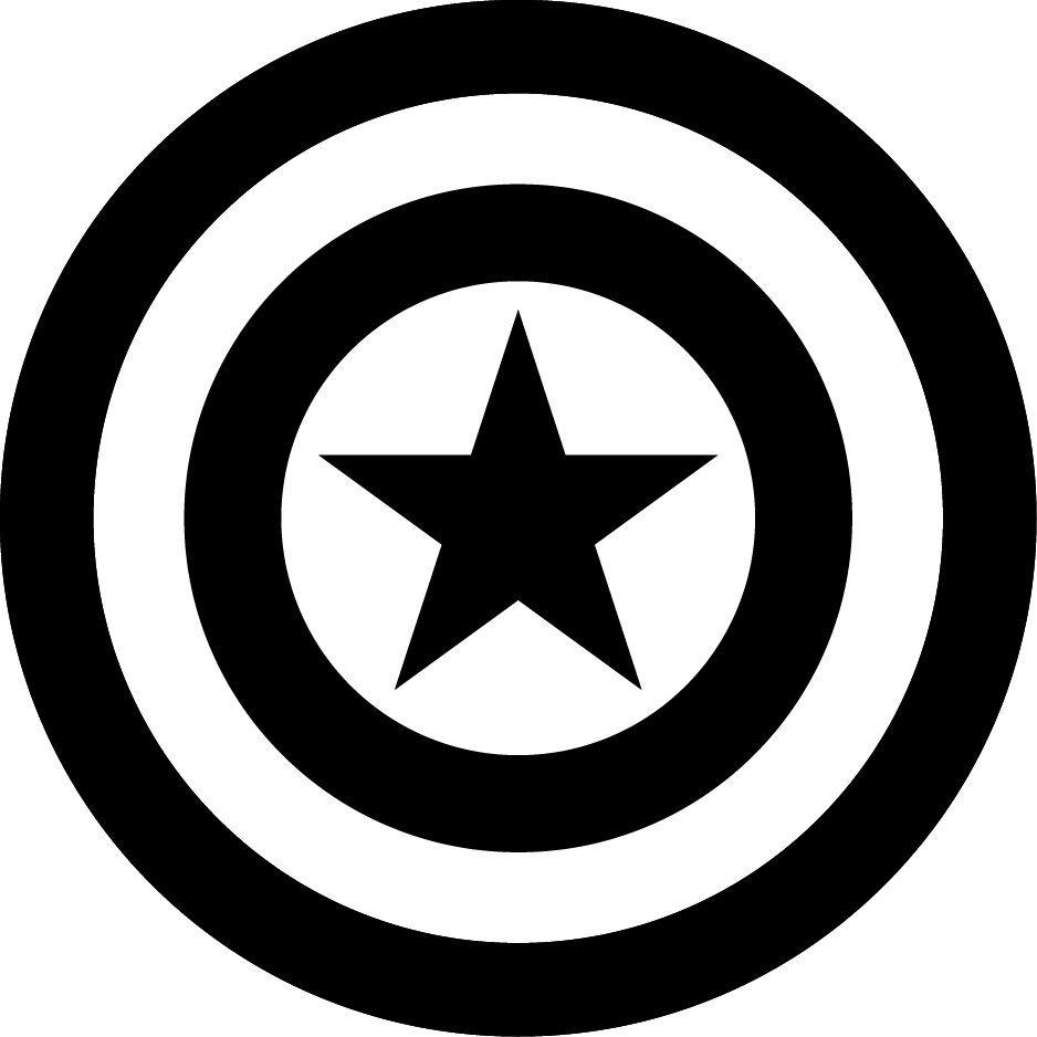 captain america shield coloring page # 39