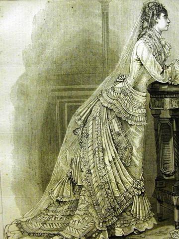 1876 wedding gown from Harper's Bazaar