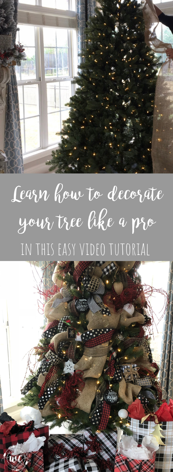 How To Decorate Your Christmas Tree With Ribbon Like A Pro Video Tutorial Wilshire Collections Ribbon On Christmas Tree Outdoor Christmas Decorations Christmas Tree Decorations