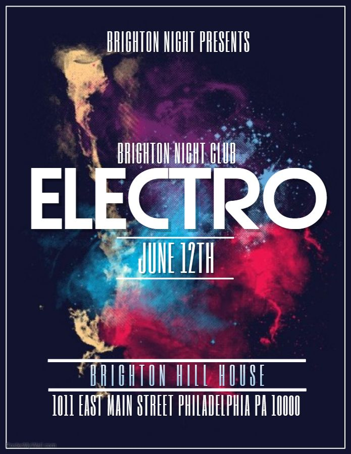 electronic concert flyer template band and concert posters