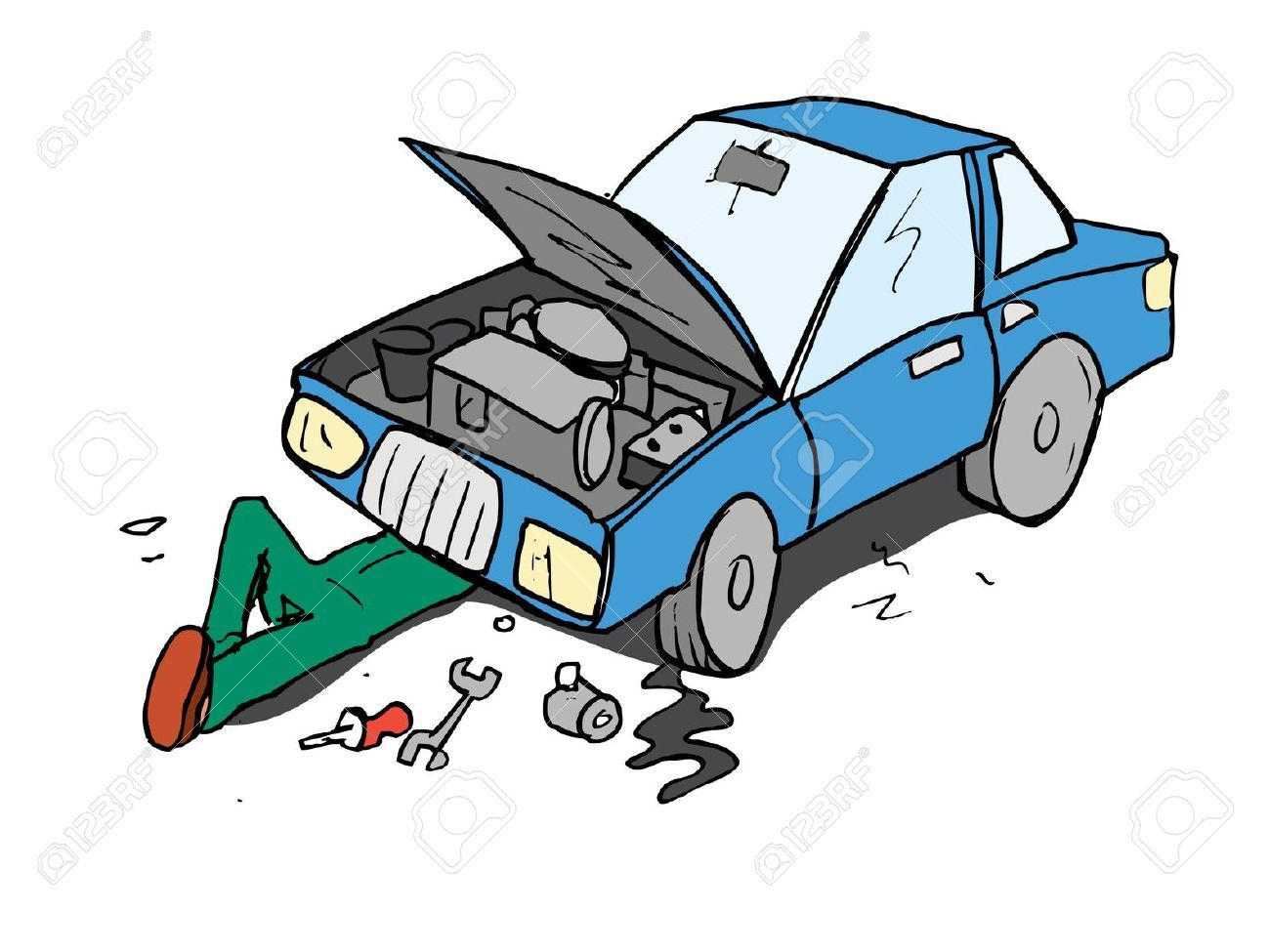 Car Mechanic Stock Illustrations Cliparts And Royalty Free Car