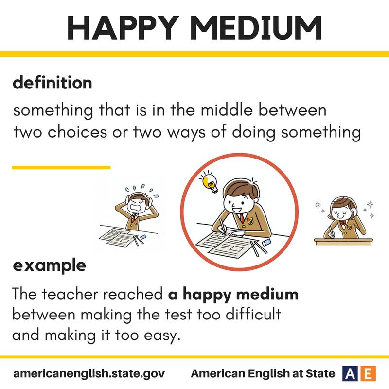 Expression Happy medium Grammar memes, English idioms