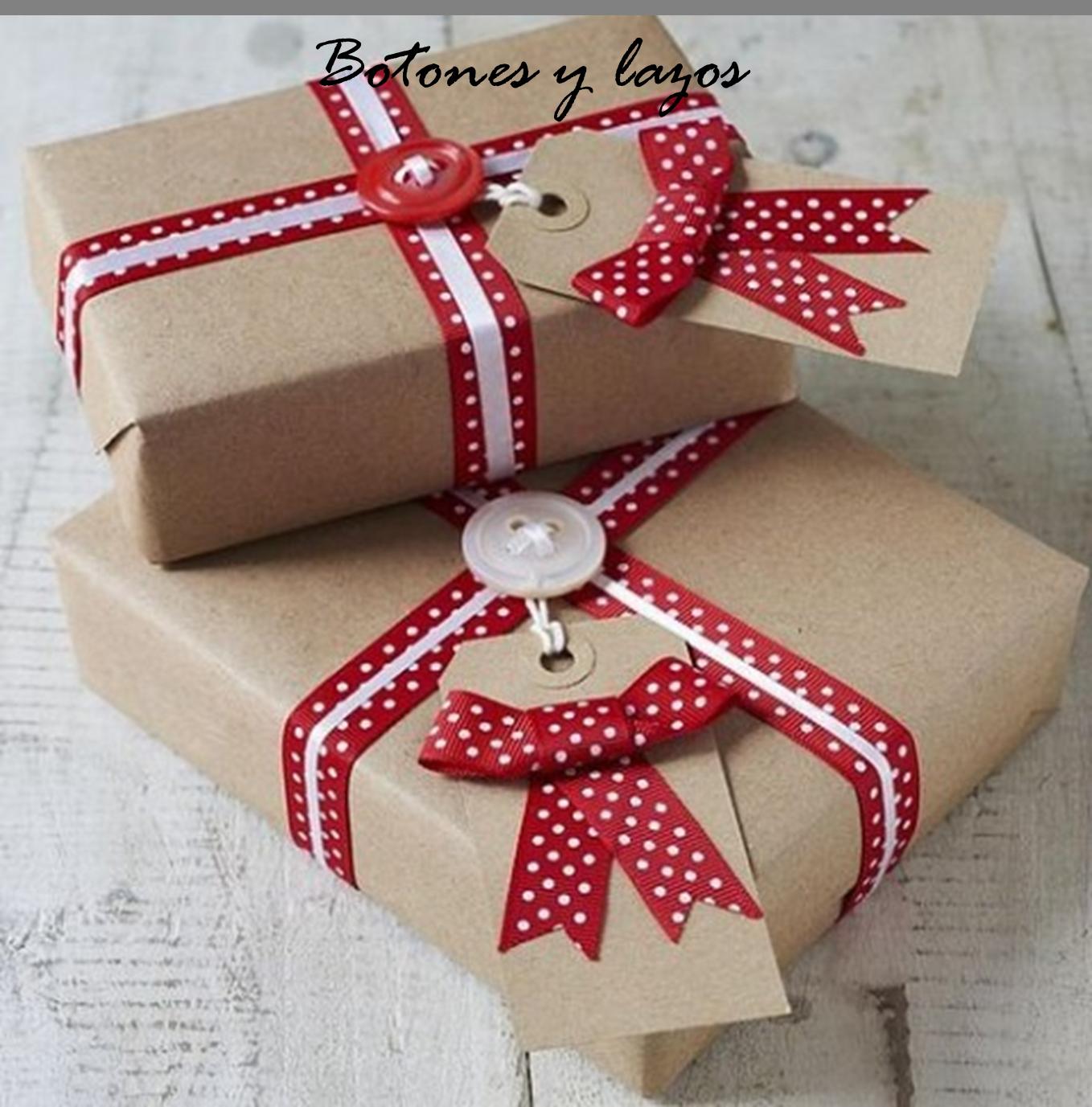 Ideas con papel kraft para envolver los regalos navide os - Ideas para envolver regalos navidenos ...
