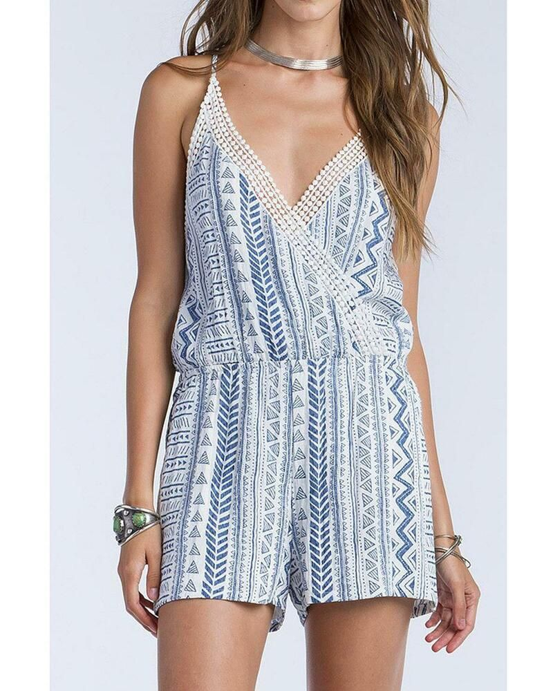 a13c65f08535 Miss Me Women s White Geo Print Cami Romper - MDP252T  fashion ...