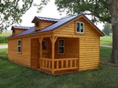 Amish quality log sided cabin pre built delivered 14 X 28