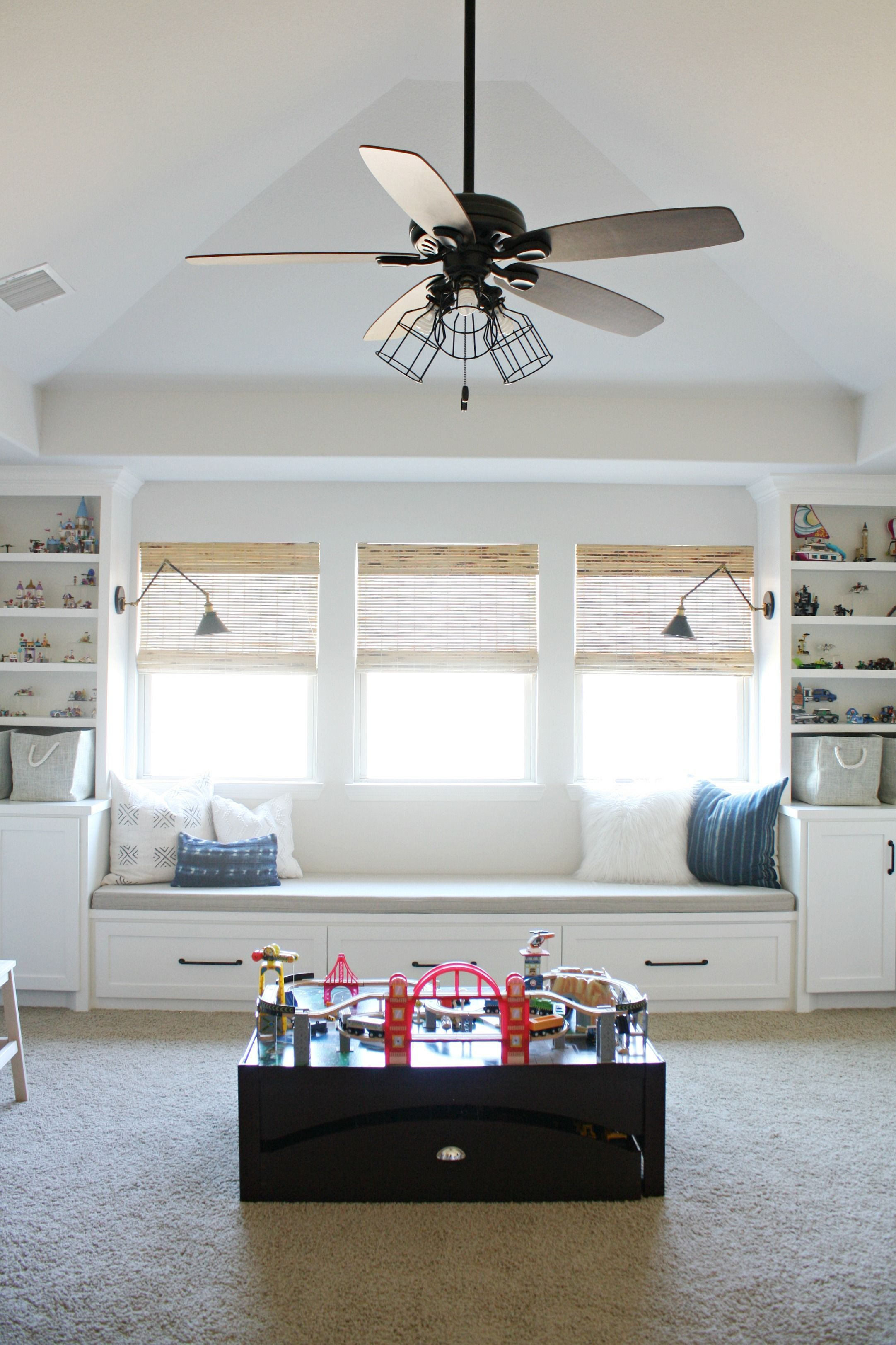 Playroom makeover with built ins toy storage pinterest