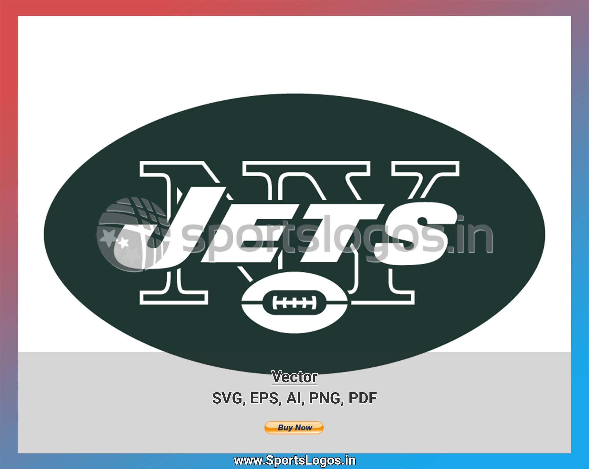 New York Jets Football Sports Vector SVG Logo in 5