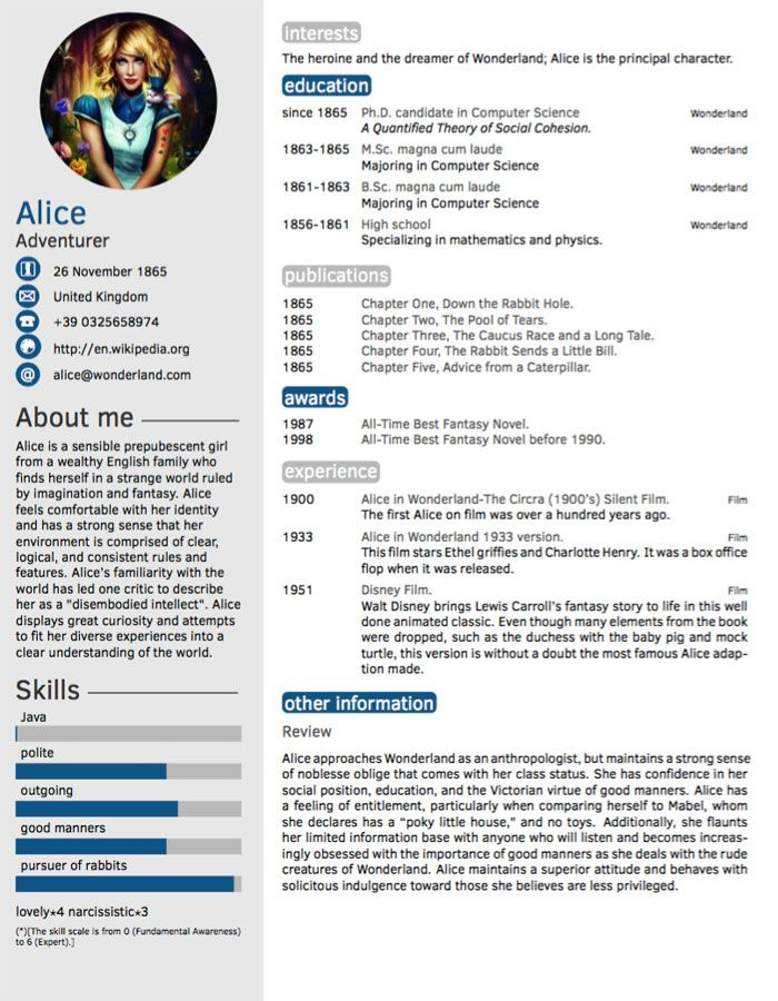 template cv francais latex