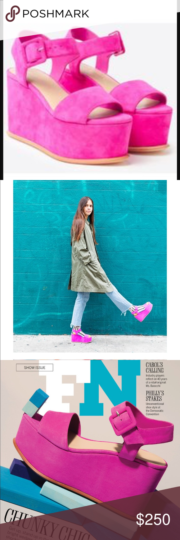 fde19a1d865f Loeffler Randall Alessa Platform Sandals GORGEOUS platform sandals in a  bright pink. Worn once you