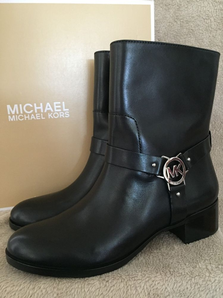 Ladies Womens Zip// Lace Up Stud Boot Black 4// 37 NWB