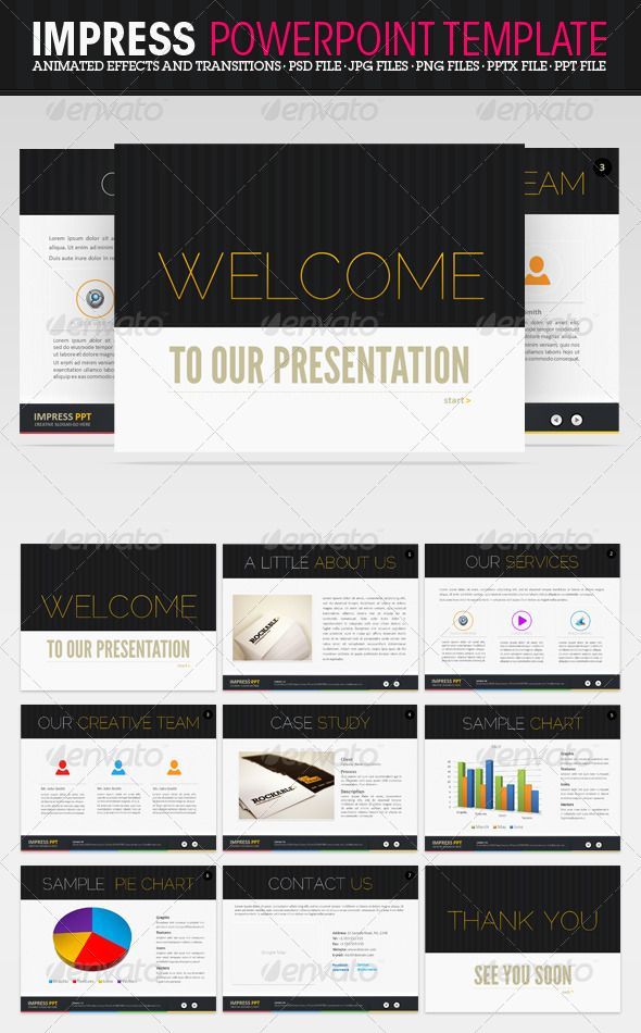 impress powerpoint presentation   powerpoint   pinterest   template, Graphicriver Folio Powerpoint Presentation Template, Presentation templates