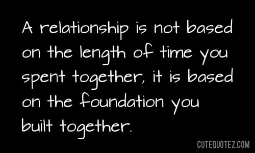 How to build a strong foundation for a relationship