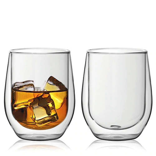 Double Wall Whiskey Glass Google Search Whiskey Glasses Glass Stemless Wine Glass