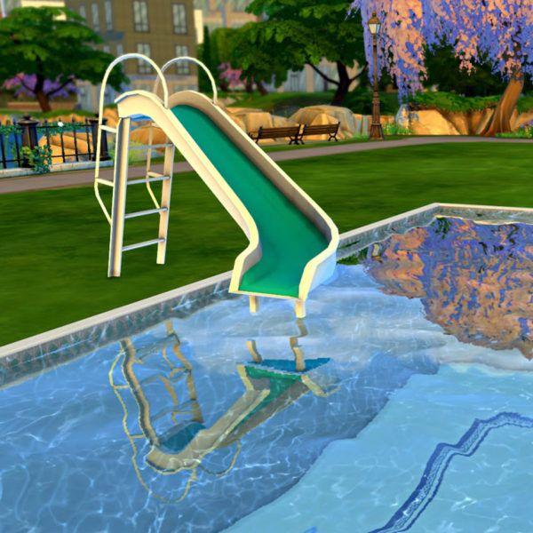 Playful Michigan Pool House: Sims 4, Sims, Sims Cc
