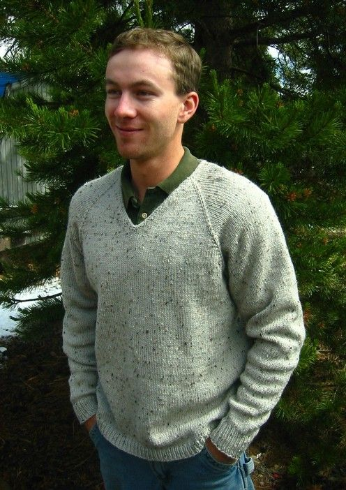 Knitting Pure And Simple Diane Soucy V Neck Top Down Pullover For