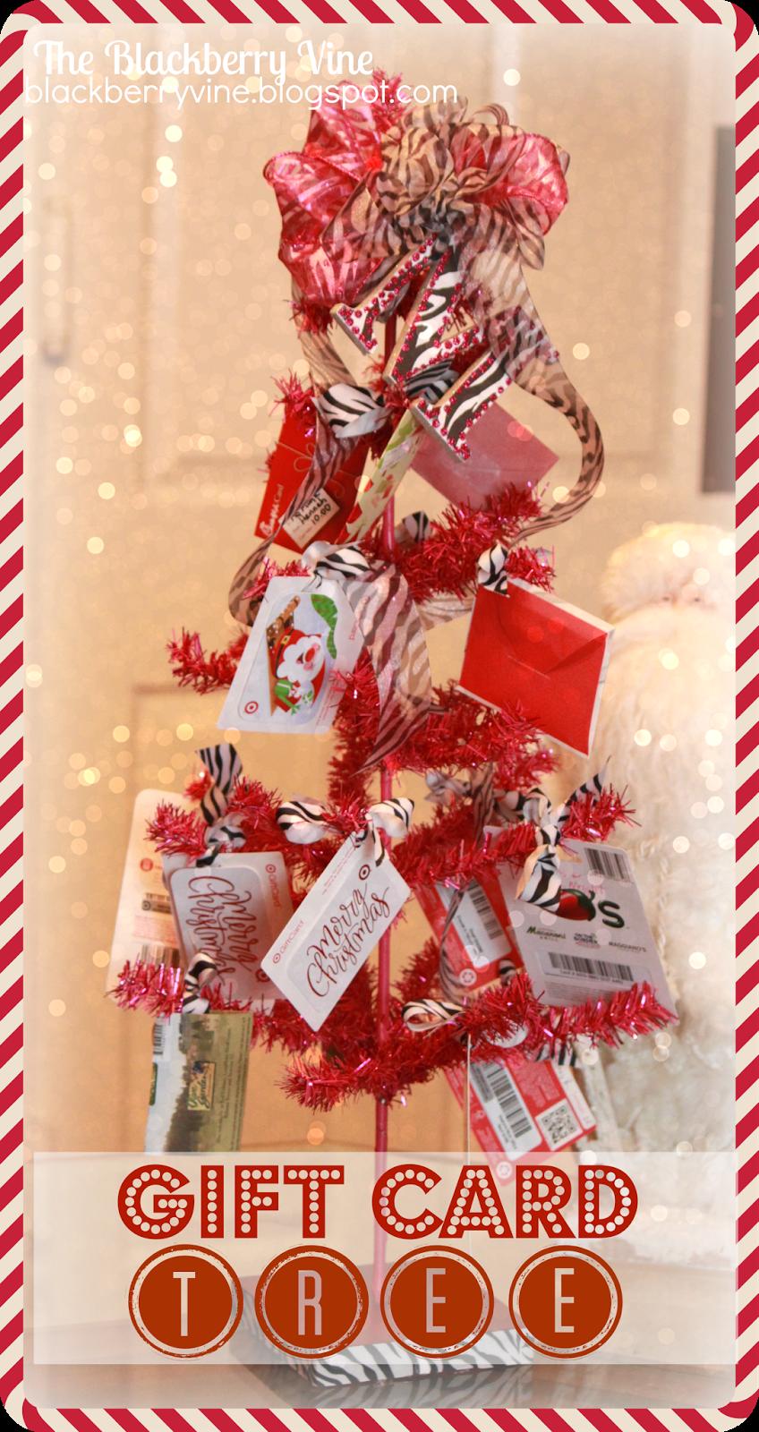 Gift card tree ideas pinterest - The Blackberry Vine Gift Card Tree For Teacher