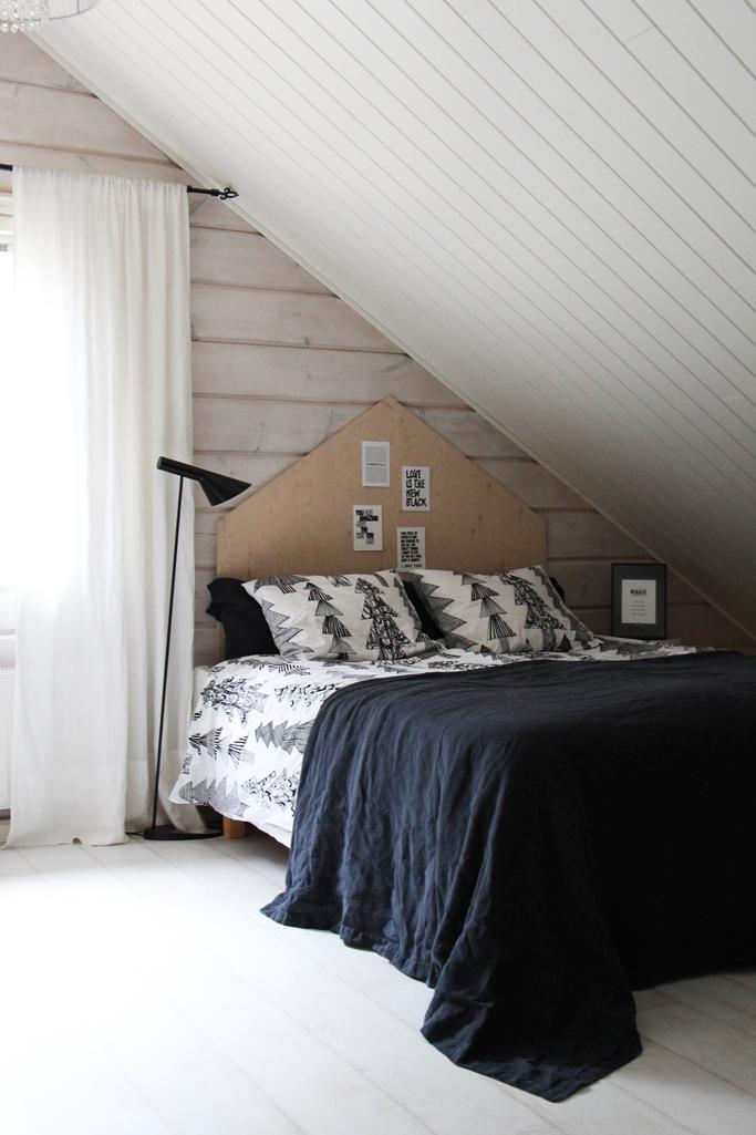 bedroom plywood diy headboard marimekko balmuir scandinavian home