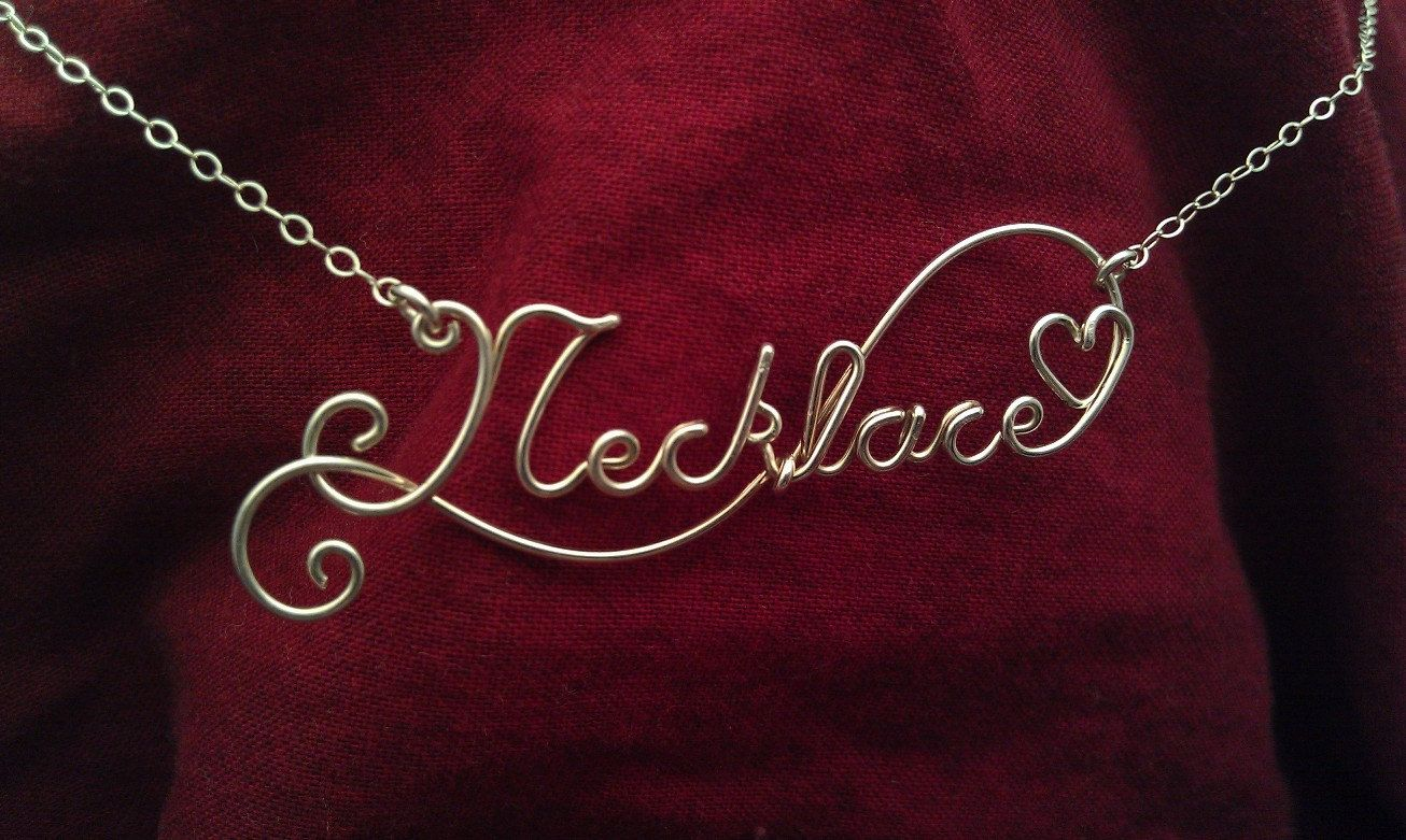 Wire Name Necklaces | wire wrapping | Pinterest | Drahtschmuck ...
