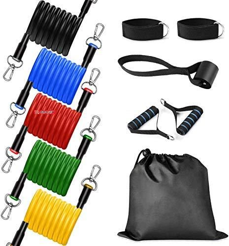 GOCART Latex Resistance Exercise Bands Include 5 Different Levels Door Anchor Fo...