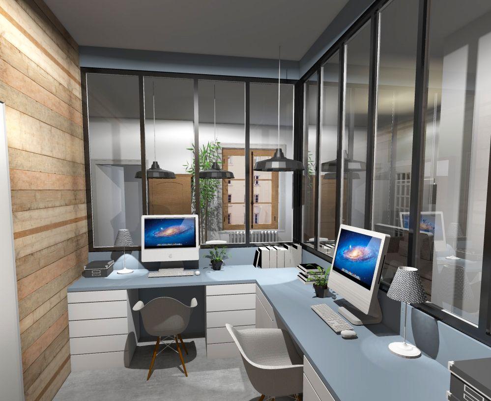 Rénovation: transformation dune chambre aveugle en bureau ouvert