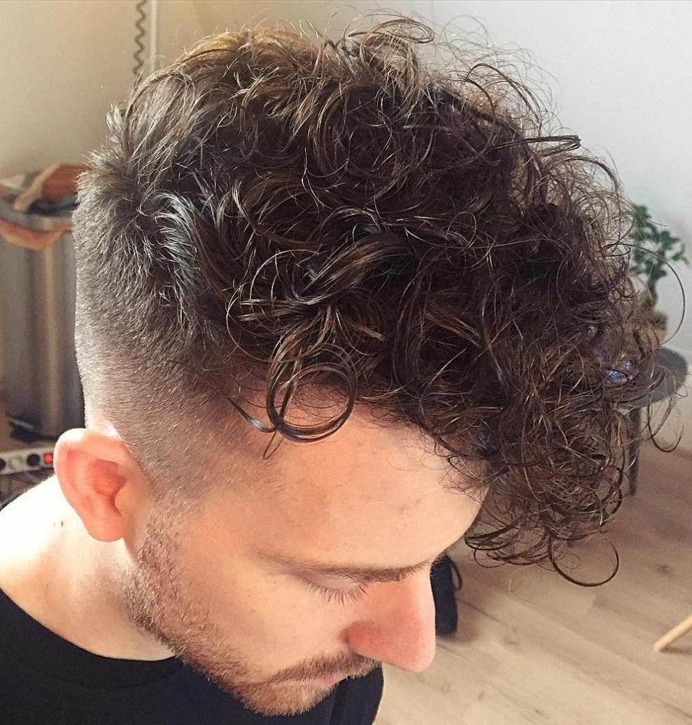 Curly Long Top Short Sides Hairstyle For Men Toplonghairstyles Men S Curly Hairstyles Side Hairstyles Long Hair Styles