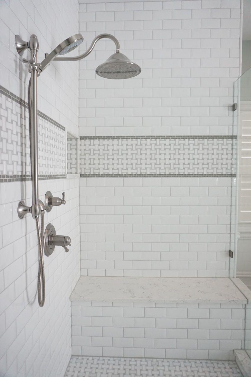 Sophisticated Vintage Bathroom With Freestanding Tub Basketweave